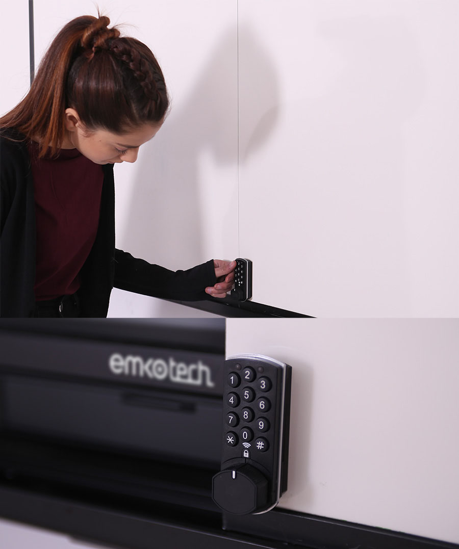Emkotech Sliding Board System can be locked
