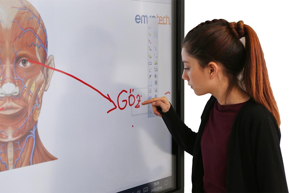 Student writes on Emkotech GO!